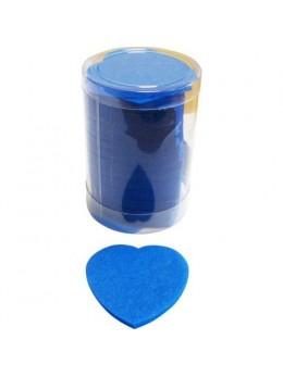 Confetti de scène coeurs turquoise