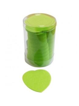 Confetti de scène coeurs vert anis