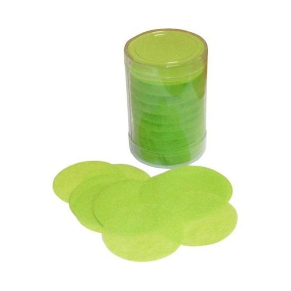 Confetti de scène rond vert anis
