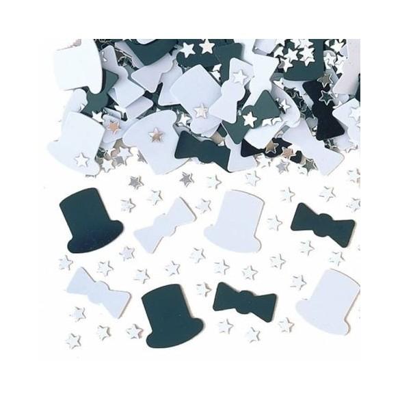 Confetti gibus noir et blanc