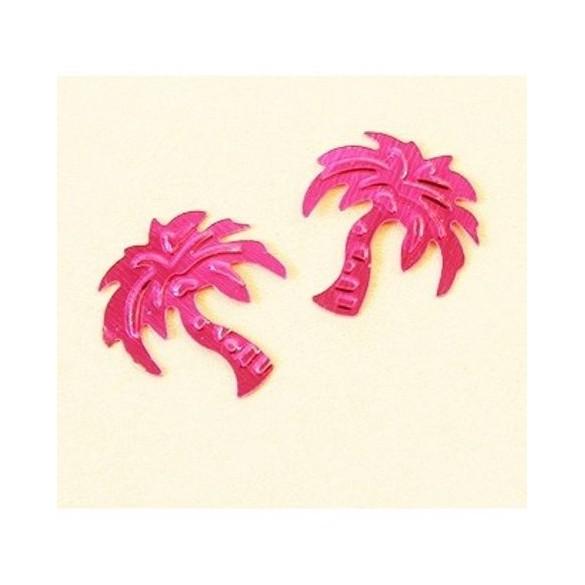 Confetti palmier fuchsia