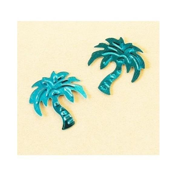 Confetti palmier turquoise