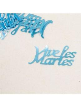 Confetti Vive les mariés turquoise