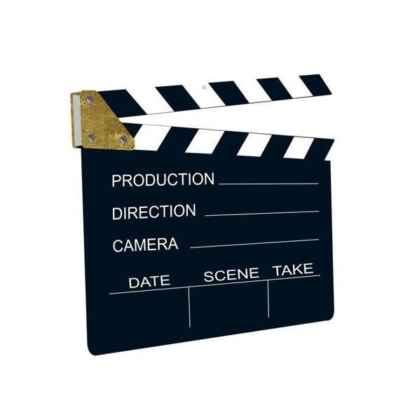 Cutout clap cinéma 28cm