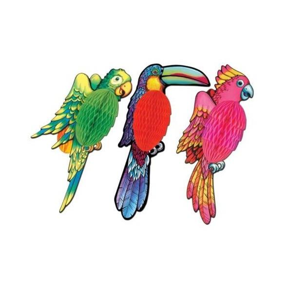 Déco 1 oiseau exotique