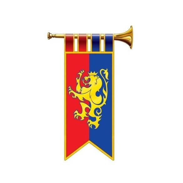 Déco 2 trompettes médiévales