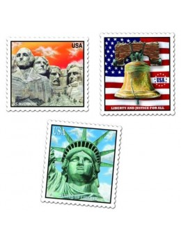 Déco 3 timbres USA