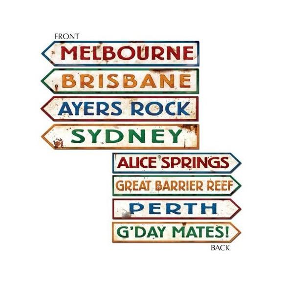 Déco 4 pancartes Australie