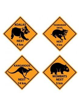 Déco 4 Panneaux Australiens