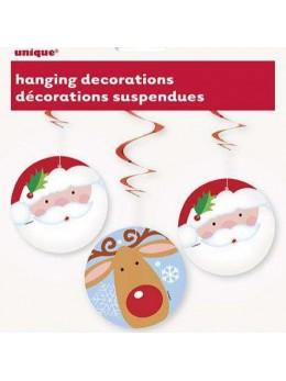 Déco 3 suspensions Noël