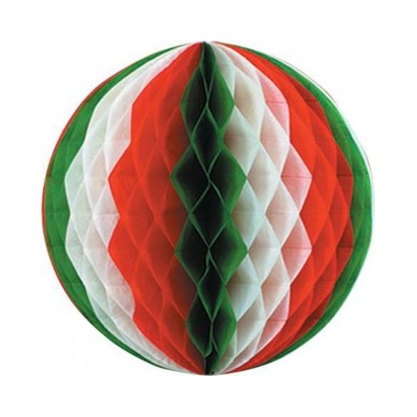 Déco boule papier Italie 25cm