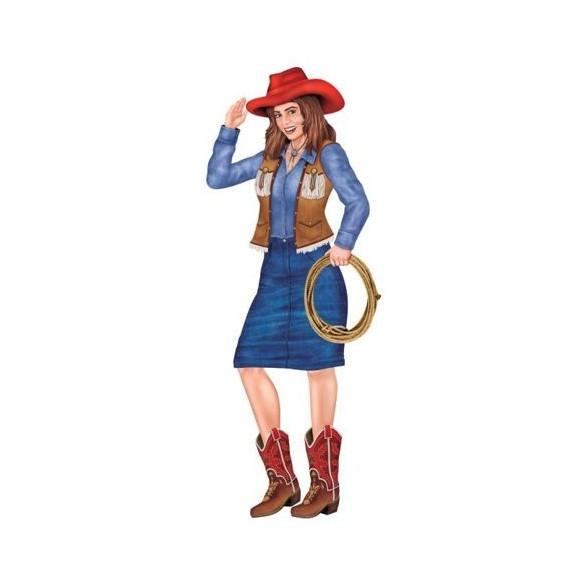 Déco cowgirl 97cm