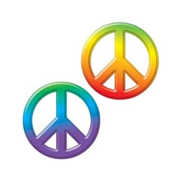 Déco sigle peace and love 25cm