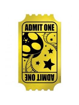 Déco ticket de cinéma géant