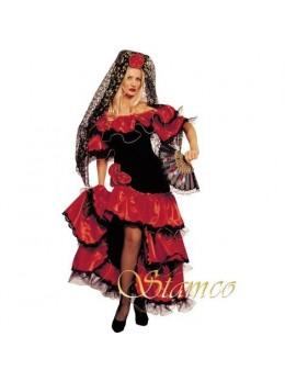 Déguisement danseuse flamenco luxe