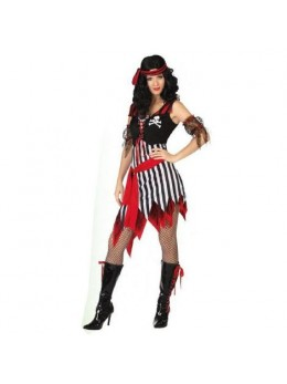 Déguisement femme pirate noire et blanche
