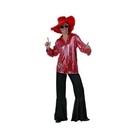 Déguisement homme disco rouge