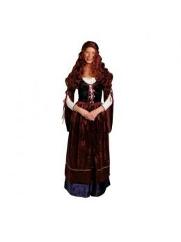 Déguisement jeune femme médiévale deluxe