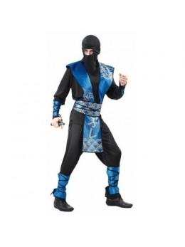Déguisement ninja noir et bleu