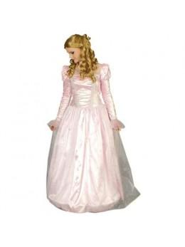 Déguisement princesse rose pâle