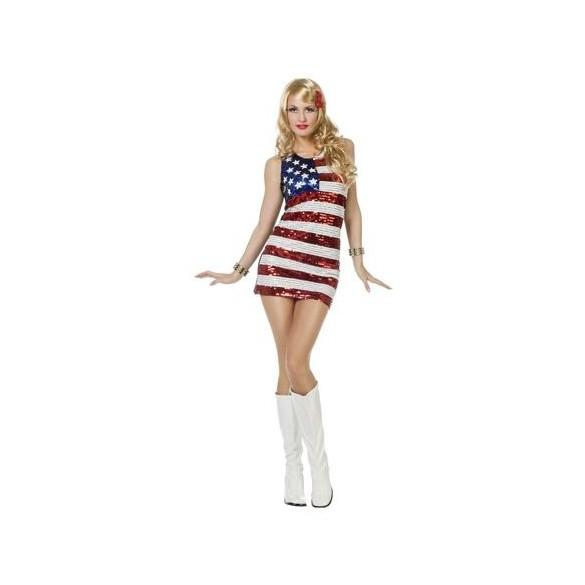 Déguisement robe Miss America