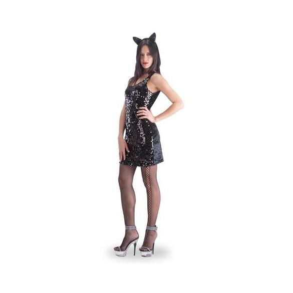 Déguisement robe paillettes noire
