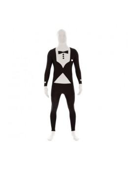 Déguisement Morphsuit ™ costume noir et blanc