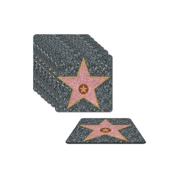 Dessous de verre Hollywood star