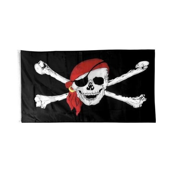 Drapeau pirate tissu