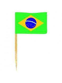 50 mini drapeaux Brésil