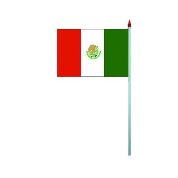 10 Drapeaux papier Mexique
