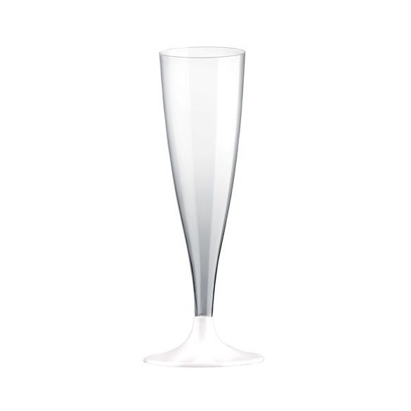 10 Easy flutes champagne pieds blanc