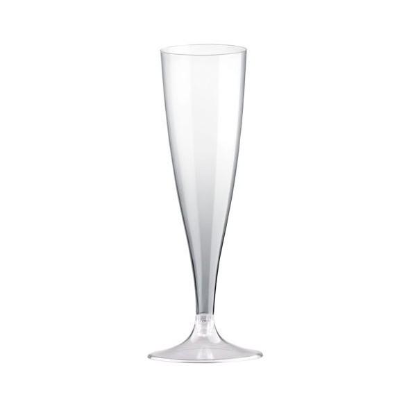 10 Easy flutes champagne pieds transparent