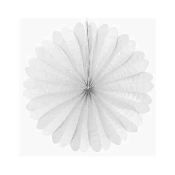 Eventail papier ignifugé blanc 50cm