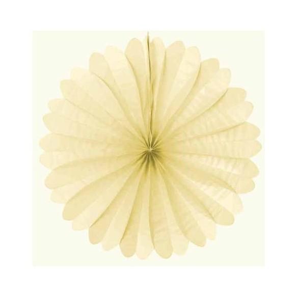 Eventail papier ignifugé ivoire 50cm