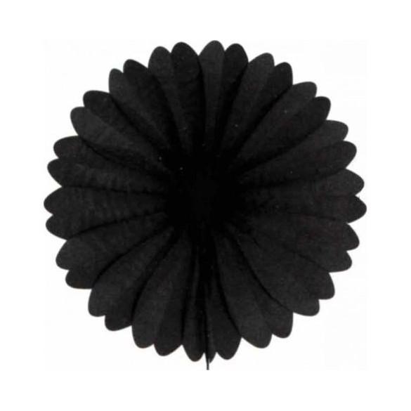 Eventail papier ignifugé noir 50cm