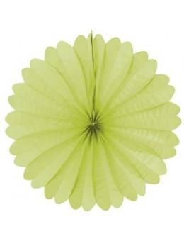 Eventail papier ignifugé vert pomme 50cm