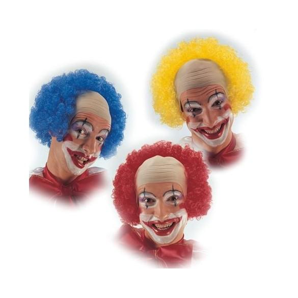 Perruque crane de clown avec cheveux