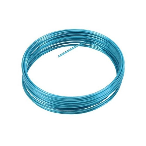 fil métal turquoise 12m