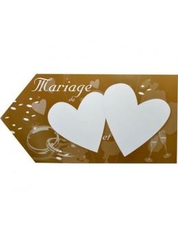Flèche mariage chocolat