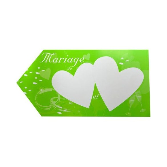 Flèche mariage verte