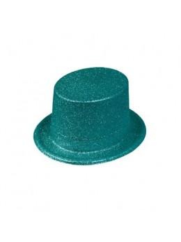 Gibus paillettes turquoise