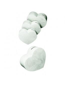 Grande urne coeur blanche