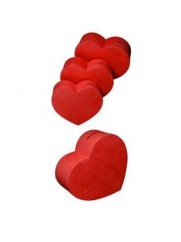 Grande urne coeur rouge