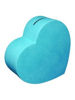 Grande urne coeur turquoise