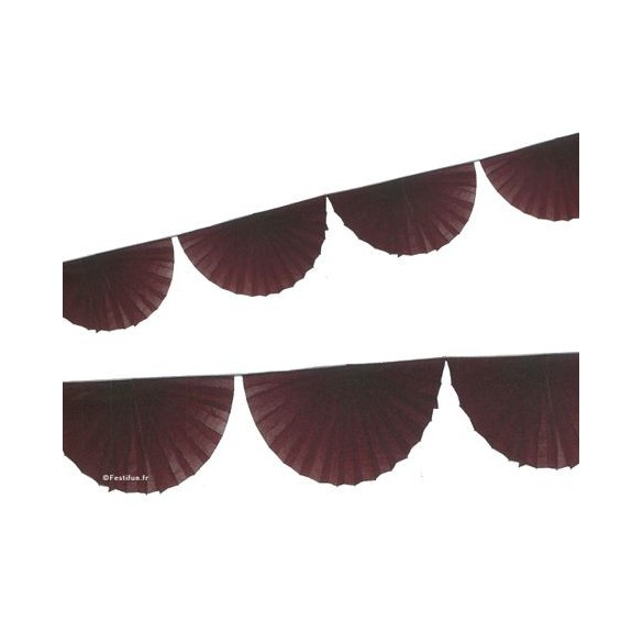 Guirlande 8 rosaces chocolat