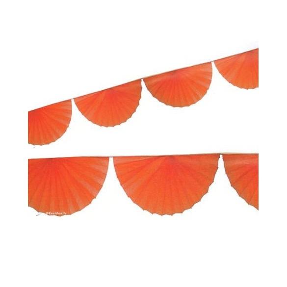 Guirlande 8 rosaces orange