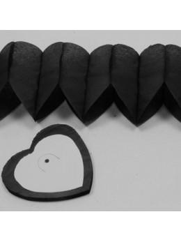 Guirlande coeur noir