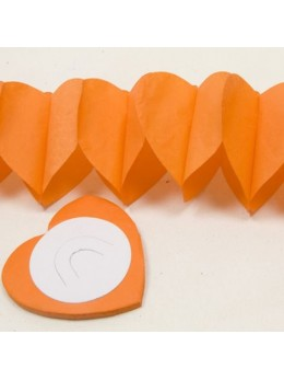Guirlande coeur orange 6m