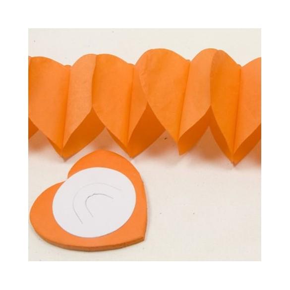 Guirlande coeur orange 6m
